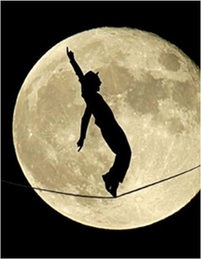 art, beau, enfants, homme, Lune